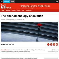 The phenomenology of solitude