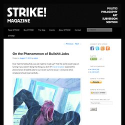 On the Phenomenon of Bullshit Jobs | Strike! Magazine