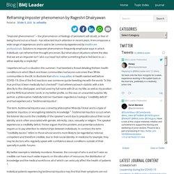 Reframing imposter phenomenon by Rageshri Dhairyawan – The official blog of B...