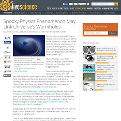 Spooky Physics Phenomenon May Link Universe's Wormholes