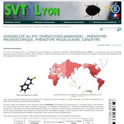 Sensibilité au PTC (PhénylThioCarbamide) : phénotype macroscopique, phénotype moléculaire, génotype - SVT Lyon