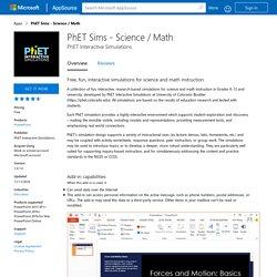 PhET Sims - Science / Math
