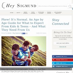 Phew! It's Normal. An Age by Age Guide for What to Expect From Kids & Teens - And What They Need From Us