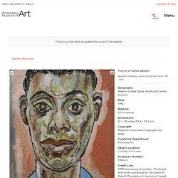 Philadelphia Museum of Art - Collections Object : Portrait of James Baldwin