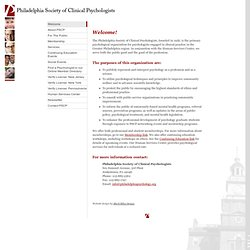 Philadelphia Society of Clinical Psychologists Website