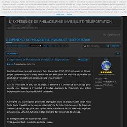 L' expérience de Philadelphie invisibilité-téléportation : Inclassables astronomie et sciences
