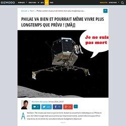 Philae va bien et pourrait même vivre plus longtemps que prévu !