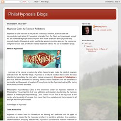 PhilaHypnosis Blogs: Hypnosis Cures All Types of Addictions