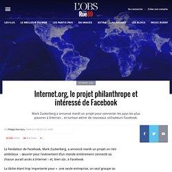 Internet.org, le projet philanthrope et intéressé de Facebook
