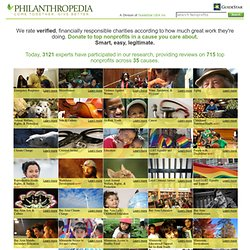 Philanthropedia - find the top non-profit organizations