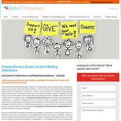 Charity Donors Email Lists, Mailing Addresses Database