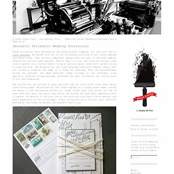 Fantastic Philatelic Wedding Invitations « Beast Pieces
