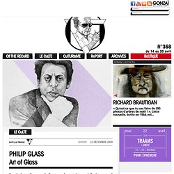 PHILIP GLASS ::: Art of Glass | Gonzaï