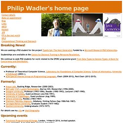 Philip Wadler's home page