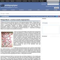 Philippe Maurel : L'écriture visuelle d'appropriation