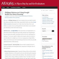 aea365 Google Refine