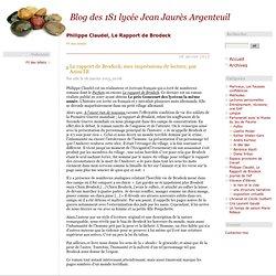 Philippe Claudel, Le Rapport de Brodeck - Blog des 1S2 lycée Jean Jaurès Argenteuil