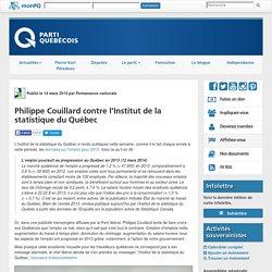 Philippe Couillard contre l'Institut de la statistique du Québec