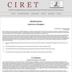 Philippe Quéau : CyberTerre et Noosphère
