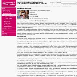 Bugnard Pierre-Philippe - Didactique des sciences sociales