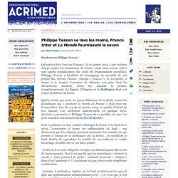 Philippe Tesson se lave les mains, France Inter et Le Monde fournissent le savon