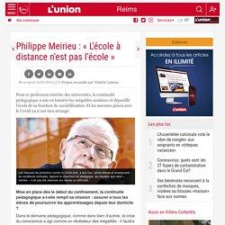 Philippe Meirieu : « L'école à distance n'est pas l'école »