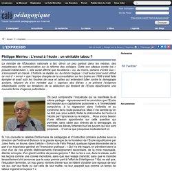 Philippe Meirieu : L'ennui à l'école : un véritable tabou ?