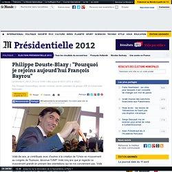 """Philippe Douste-Blazy : """"Pourquoi je rejoins aujourd'hui François Bayrou"""""""