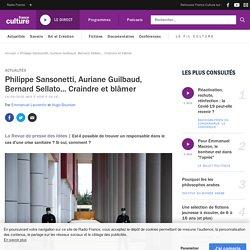 Philippe Sansonetti, Auriane Guilbaud, Bernard Sellato... Craindre et blâmer