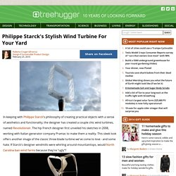 Philippe Starck's Stylish Wind Turbine For Your Yard