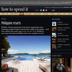 Philippine resorts - Destinations