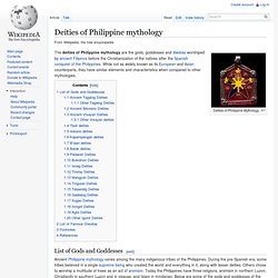 Deities of Philippine mythology