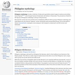 Philippine mythology