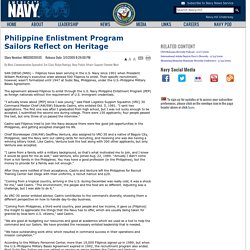 Philippine Enlistment Program Sailors Reflect on Heritage