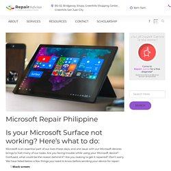 Microsoft Repair Philippine - Surface Repair
