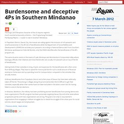 Burdensome and deceptive 4Ps in Southern Mindanao, Ang Bayan, 7 March 2012 - philippinerevolution.net