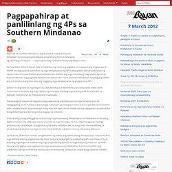 Pagpapahirap at panlilinlang ng 4Ps sa Southern Mindanao, Ang Bayan, 7 March 2012 - philippinerevolution.net