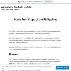 Major Fruit Crops of the Philippines – Agricultural Products Updates