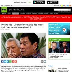 Philippines : Duterte ne veut plus des forces spéciales américaines chez lui