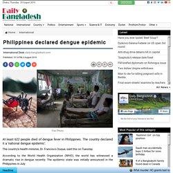 Philippines declared dengue epidemic