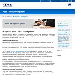 Philippines Asset Tracing Investigations by Orion Support Inc.