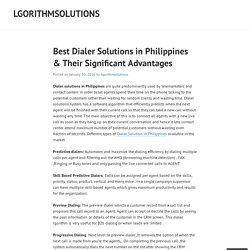 Best Dialer Solutions in Philippines & Their Significant Advantages