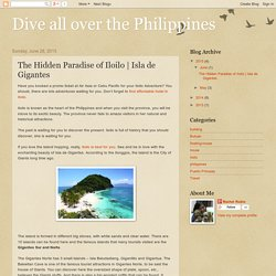 Dive all over the Philippines: The Hidden Paradise of Iloilo