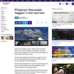 Philippines' Aeta people 'beggars' in their own land