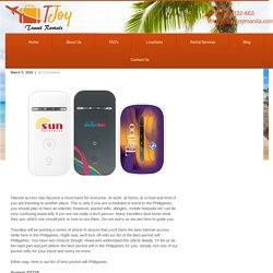 The Best Pocket Wifi In The Philippines - Traveljoy Rentals