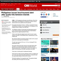 USGS: 6.8 quake strikes off coast of Philippines' 3rd-largest island