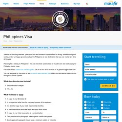 Philippines Visa Services in UAE - Musafir.com