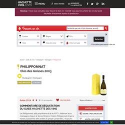 Vin blanc philipponnat clos des goisses 2003 - champagne