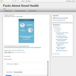 Facts About Good Health: Philips Electric Sterilizer vs Wabi Sterilizer