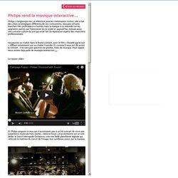 Philips musique interactive - Josiane, agence de publicité Paris
